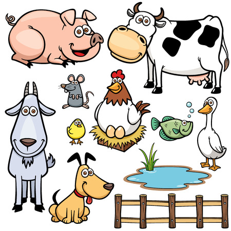 Photo for Vector Illustration of Farm Animals cartoon - Royalty Free Image