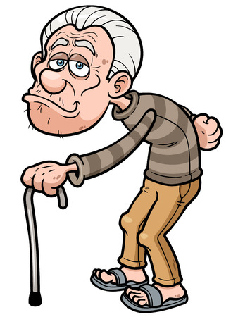 Illustration pour Vector illustration of Cartoon Old man - image libre de droit