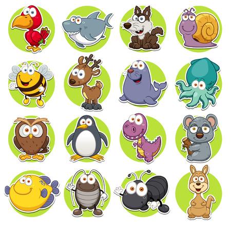 Photo for Vector illustration of Animals set Cartoon - Royalty Free Image