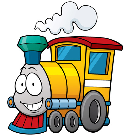 Illustration pour Vector illustration of cartoon train - image libre de droit