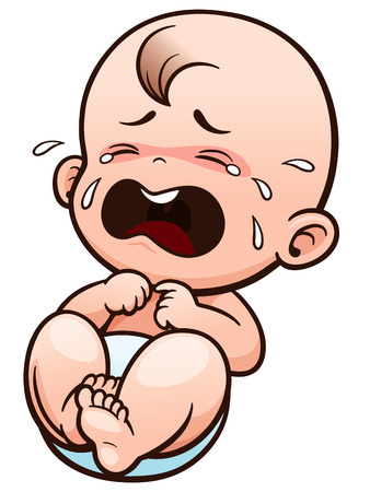 Foto de Vector Illustration of Cartoon Baby crying - Imagen libre de derechos