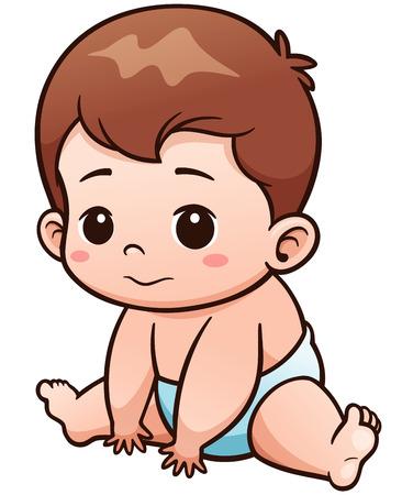 Ilustración de Vector Illustration of Cartoon Cute Baby - Imagen libre de derechos