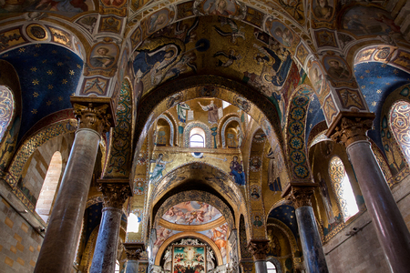 Interior Shot of the famous church Santa Maria  in Palermo in Sicily, Italy