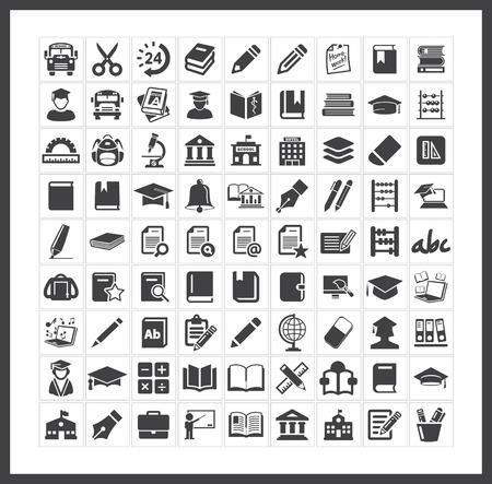 Illustration pour School icons - image libre de droit