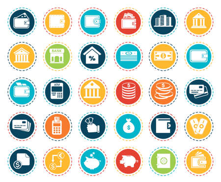 Illustration for banking icons - Royalty Free Image