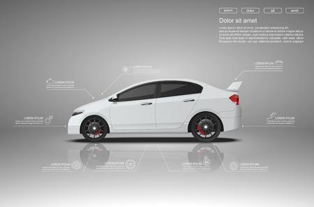Car auto service infographics design.vector
