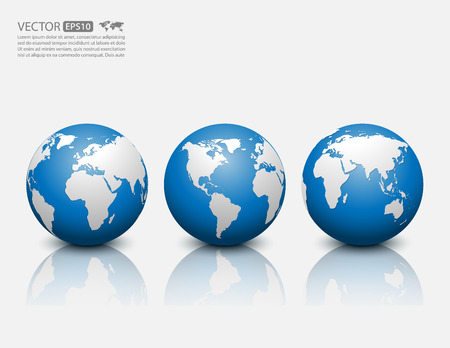 Illustration for globe icon - Royalty Free Image