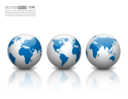 Illustration for Vector globe icon. - Royalty Free Image