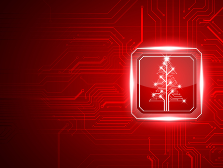 Photo pour Abstract technology Christmas tree.vector - image libre de droit