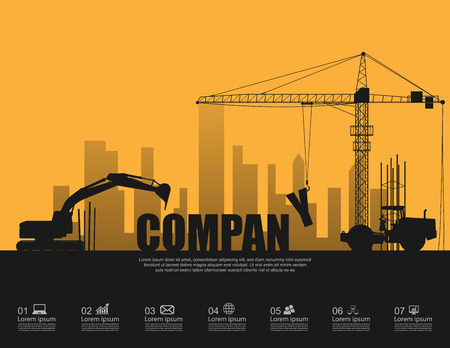 Photo for Company concept with construction machines - Royalty Free Image