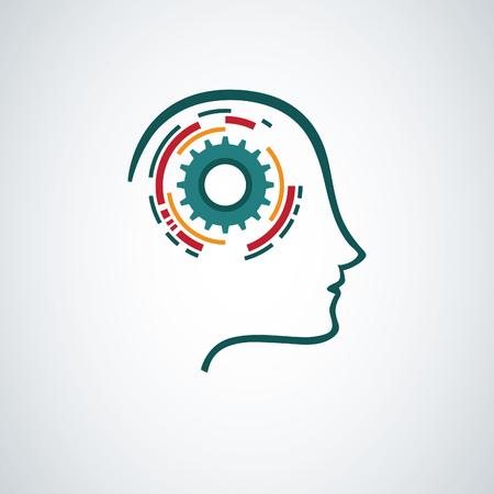 Illustration for Creative mind concept design - Royalty Free Image