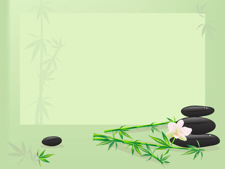 Illustration for Frame with spa and bath requisite - Royalty Free Image