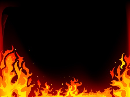Fire and flames vector background