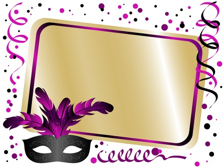 Illustration pour Party background with carnival mask - image libre de droit