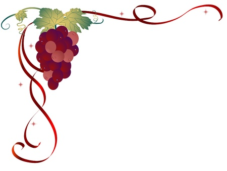 Abstract background with the grapes
