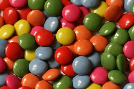 Background with colored chocolate candies