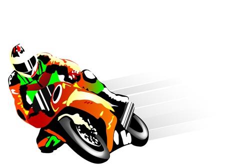 Illustration pour Vector illustration of motorcycle racer - image libre de droit