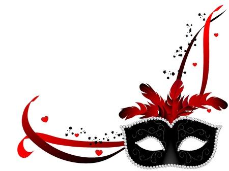 Illustration pour Carnival facemask on white background - image libre de droit