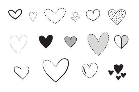 Illustration pour The heart is used for Valentine's Day, Vector, illustrator - image libre de droit