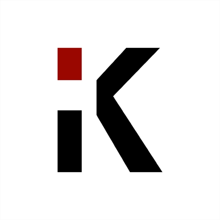 iK, Ki, iC initials geometric letter company logo