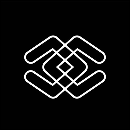 Ilustración de simple cc, dd initials line art logo - Imagen libre de derechos