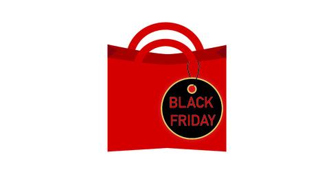 Black Friday consumption on white background, vector illustration.