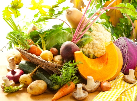 Still life with autumn vegetables