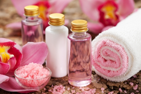 body care products or spa still life