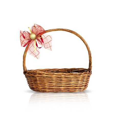 Bamboo basket isolated