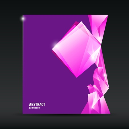 Abstract purple and pink diamond background brochure design