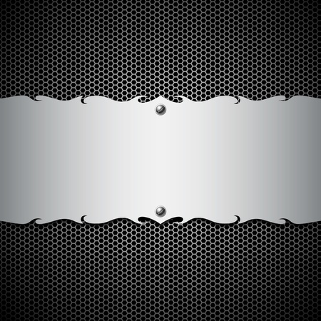 Empty metal stainless steel modern backgrounds, illustration