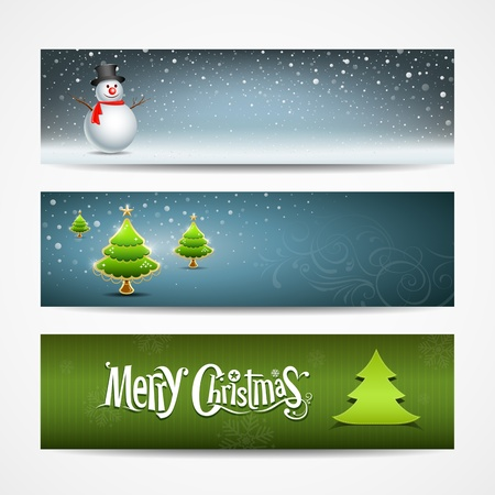 Merry Christmas banner design, vector illustrationのイラスト素材