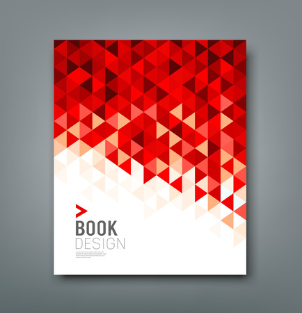 Cover report red triangle geometric pattern design background