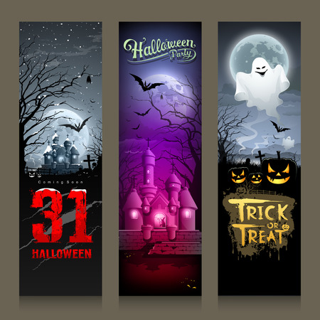 Happy Halloween collections banner vertical design