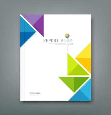 Cover Annual report, colorful windmill paper origami design