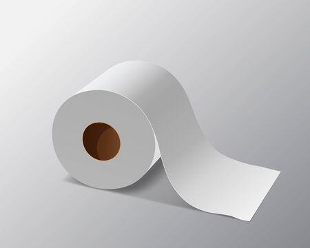 Illustration pour Vector Tissue paper roll, design on gray background, illustration - image libre de droit