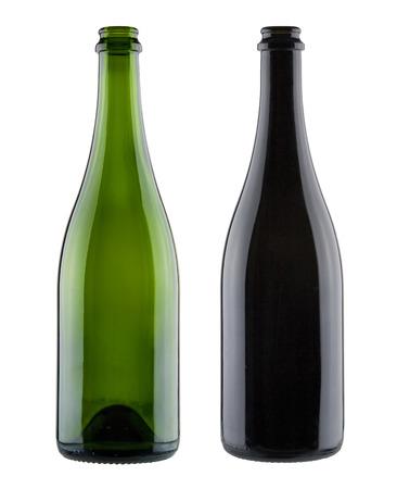 Photo pour Pair of blank champagne bottles - image libre de droit