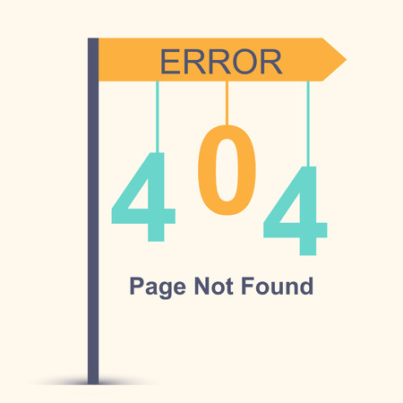 Page not found, 404 error. Vector illustration