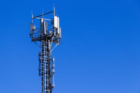 Foto de Base station network operator. 5G. 4G, 3G mobile technologies. - Imagen libre de derechos