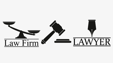 Law and attorney logo vector illustration set: Royalty-free