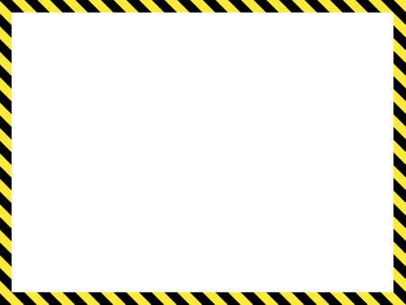 Illustration for Construction warning border, vector illustration - Royalty Free Image