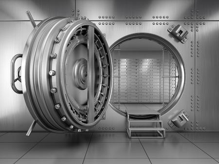 Open Bank Vault Door