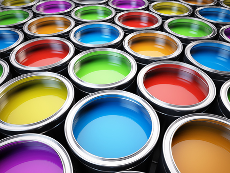 Photo pour Paint cans color palette - image libre de droit