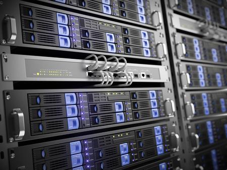 Photo pour Computer servers - image libre de droit