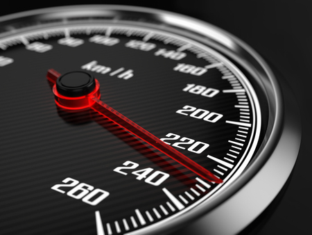 Photo pour Black Speedometer - image libre de droit