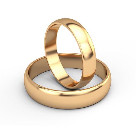 Foto für Golden wedding rings - Lizenzfreies Bild