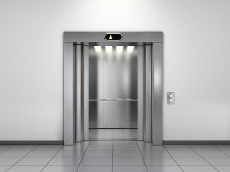 Photo pour Modern elevator with open doors - image libre de droit