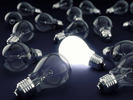 Photo pour One Bright Bulb - image libre de droit