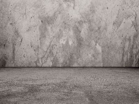 Photo pour Concrete wall and floor - image libre de droit