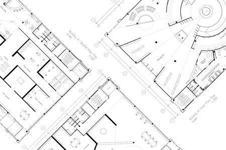 Photo pour Abstract architecture floor plan - image libre de droit